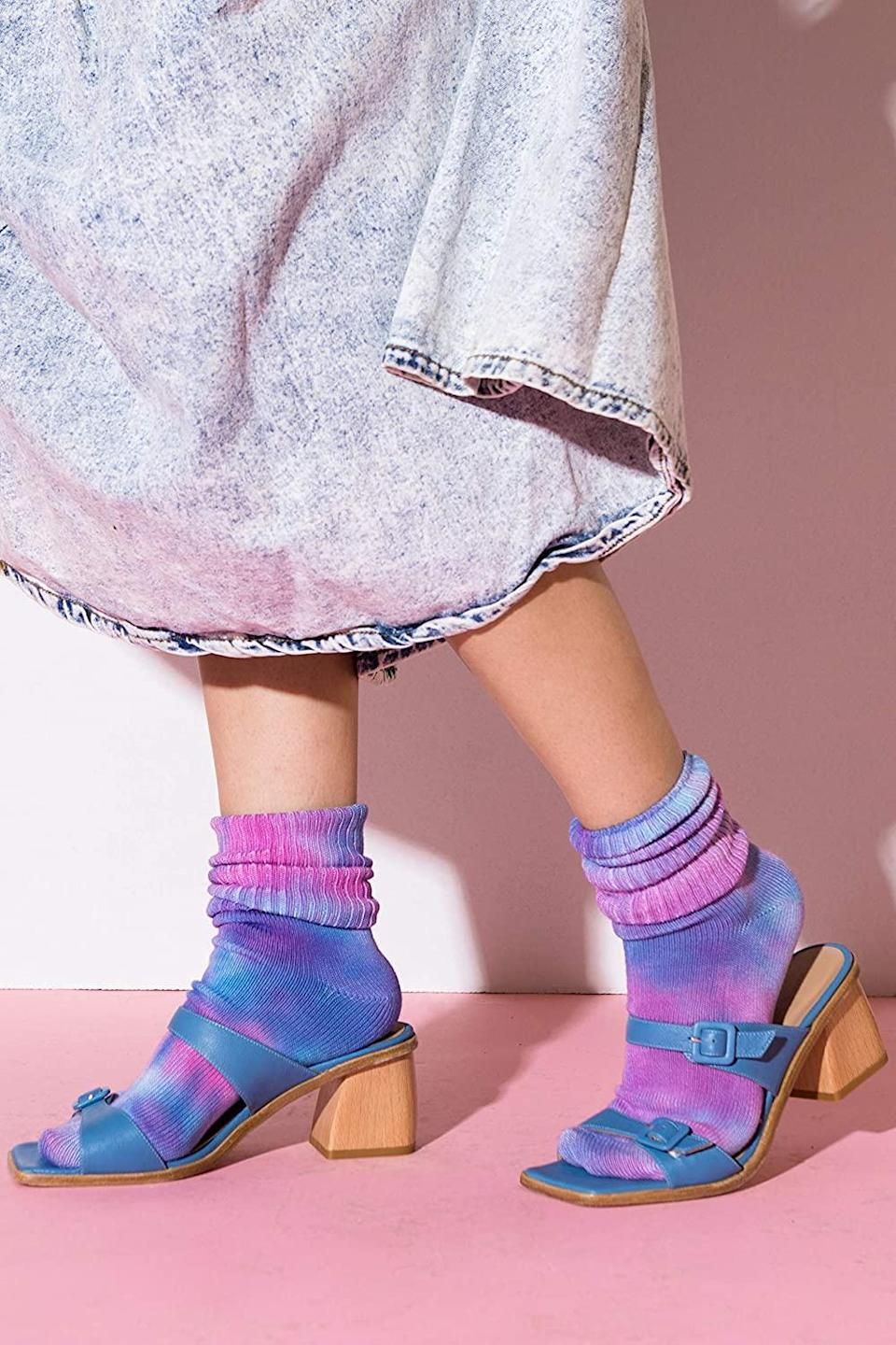 """<h2>Masha Apparel Tie Dye Bamboo Socks</h2><br>These super-soft, sweat-wicking bamboo socks get high marks for both trendiness and comfort. Your best bud will approve, whether they're wearing these colorful accessories around the house or hitting the trail for a multi-mile hike.<br><br><em>Shop <strong><a href=""""https://www.amazon.com/Handmade/b?ie=UTF8&node=11260432011"""" rel=""""nofollow noopener"""" target=""""_blank"""" data-ylk=""""slk:Amazon Handmade"""" class=""""link rapid-noclick-resp"""">Amazon Handmade</a></strong></em><br><br><strong>Masha Apparel</strong> Tie Dye Bamboo Socks, $, available at <a href=""""https://amzn.to/39LWymC"""" rel=""""nofollow noopener"""" target=""""_blank"""" data-ylk=""""slk:Amazon"""" class=""""link rapid-noclick-resp"""">Amazon</a>"""