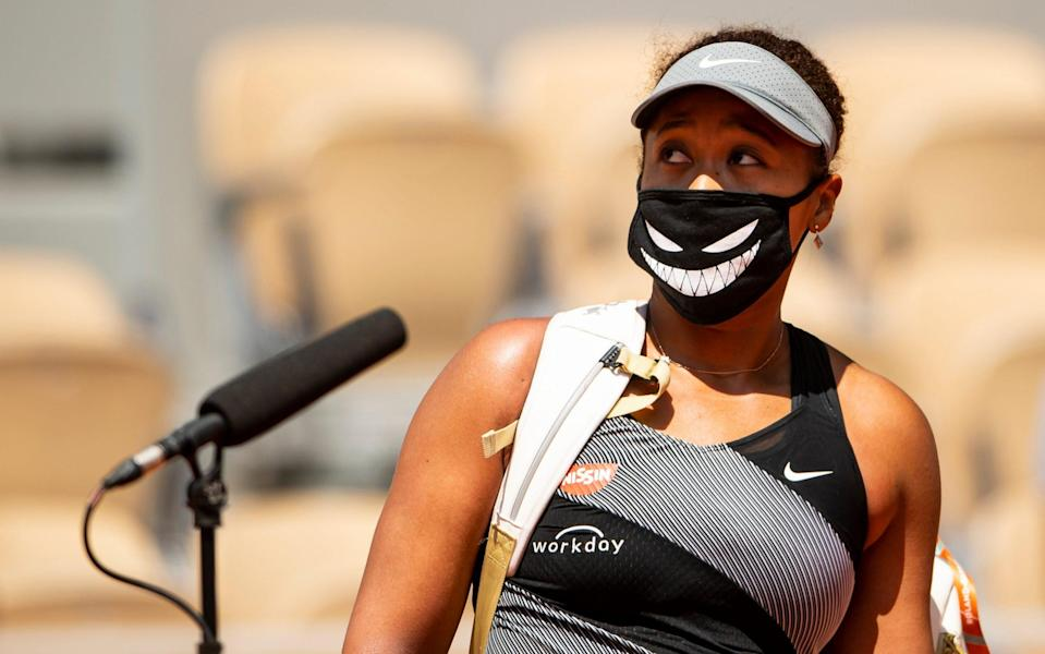 Osaka has been threatened with suspension from future slams - GETTY IMAGES