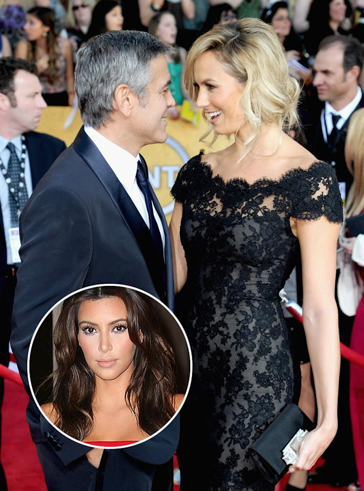 "<p class=""MsoNormal"">George Clooney has banned Stacy Keibler from ""hanging out"" with Kim Kardashian, reveals <i>Star</i>. The mag says the Oscar winner became ""enraged"" when his girlfriend recently spent time with the reality star because he feels the Kardashians ""have no talent,"" and being friends with Kim will ""hurt"" Keibler professionally. For who else is on Clooney's banned list, go to <a target=""_blank"" href=""http://www.gossipcop.com/george-clooney-bans-stacy-keibler-kim-kardashian-hanging-out-friends/"">Gossip Cop</a>. </p>"