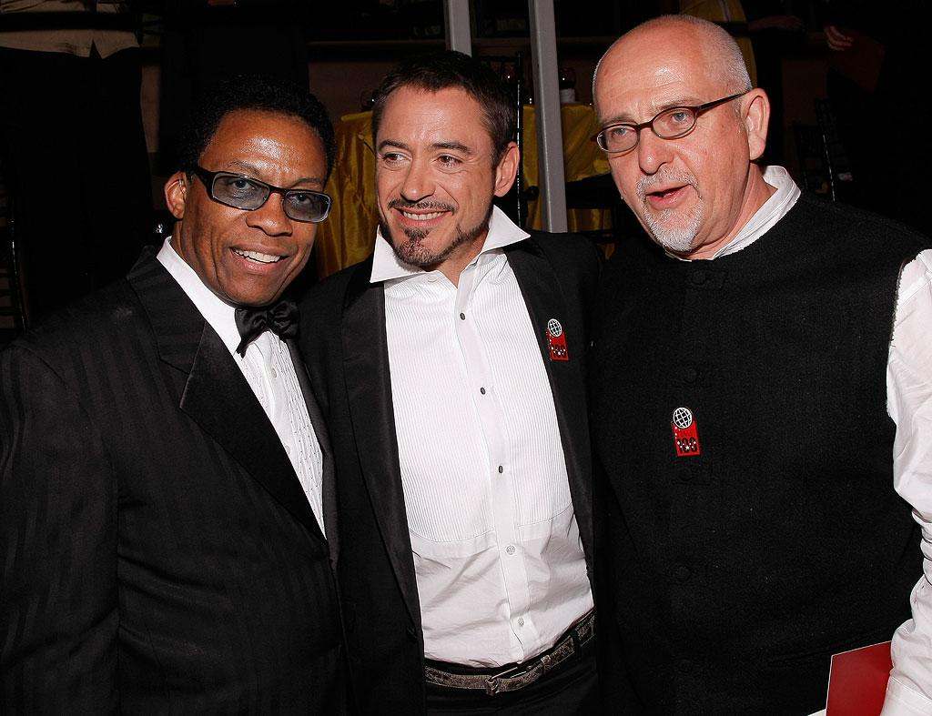 """Ruler of the box office, Robert Downey Jr. (""""Iron Man""""), was all smiles as he hobnobbed with the elite crowd. Jemal Countess/<a href=""""http://www.wireimage.com"""" target=""""new"""">WireImage.com</a> - May 8, 2008"""
