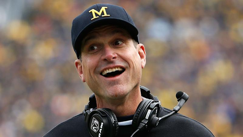 Jim Harbaugh trolls FSU assistant Tim Brewster after snarky NFL Draft tweet