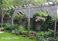 This blogger from Empress of Dirt pointed out a brilliant work-around for fence height restrictions. The solution? Building a free-standing lattice structure in front of the fence. For more ideas on how to add privacy, check out the full post at Hometalk!