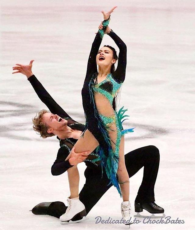 <p>She and Evan placed 3rd at the U.S. Championship in January, and in PyeongChang they'll look to avenge their 8th place performance from Sochi in 2014. (Instagram/@chockolate02) </p>