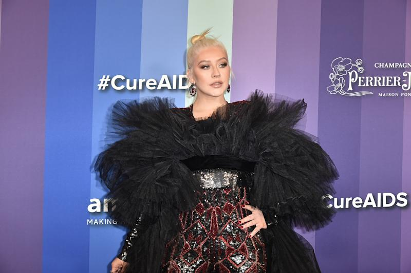 LOS ANGELES, CALIFORNIA - OCTOBER 10: Christina Aguilera attends the 2019 amFAR Gala Los Angeles at Milk Studios on October 10, 2019 in Los Angeles, California. (Photo by David Crotty/Patrick McMullan via Getty Images)