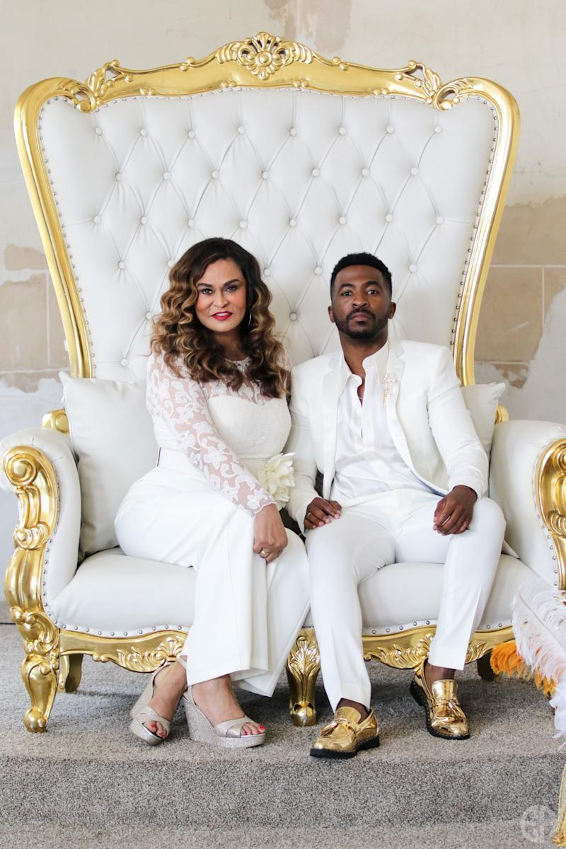 Tina Knowles-Lawson and Trell Thomas at the Black Excellence Brunch during the Essence Festival. (Photo: Anthony Whiting)