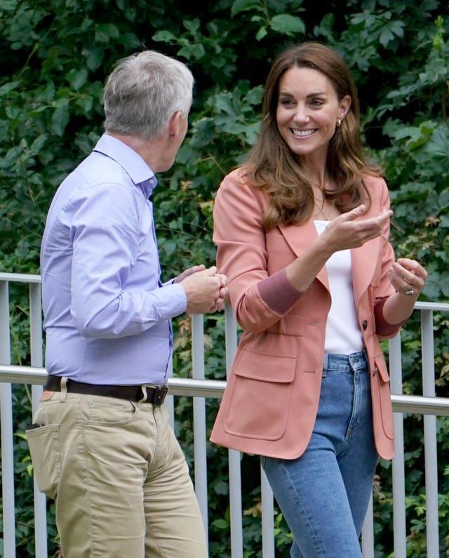The Duchess of Cambridge was welcomed by museum director Dr Doug Gurr