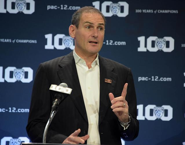 Pac-12 commissioner Larry Scott has been under fire for the conference's revenue and his exorbitant salary. (Credit: USAT)