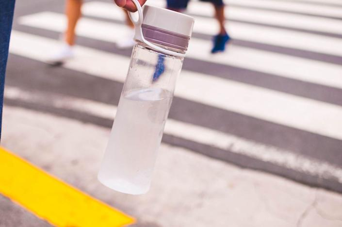 <p>Reusable water bottles are something many people forget to clean regularly because they just hold water and are usually in constant use. Even if they're only ever filled with water, they can still get filthy. </p><p><strong>How to clean</strong>: Fill your water bottle with hot soapy water, screw the cap on, and shake it around to get the soap everywhere. You can let sit for a few minutes if you want. If you have a bottle brush, use it to scrub the inside and all around the drinking spout and cap. </p>