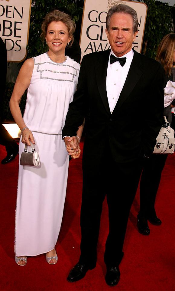 "<a href=""/annette-bening/contributor/29454"">Annette Bening</a> and Warren Beatty at <a href=""/the-64th-annual-golden-globe-awards/show/40075"">the 64th annual Golden Globe Awards</a>."