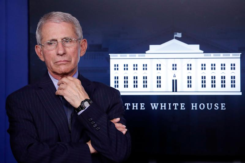 Fauci is a regular fixture at the White House's coronavirus briefings, a position that's earned him national recognition.  (Photo: ASSOCIATED PRESS)