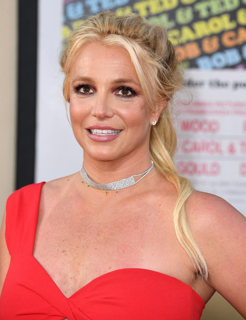 Britney Spears at the premiere of Once Upon a Time in Hollywood