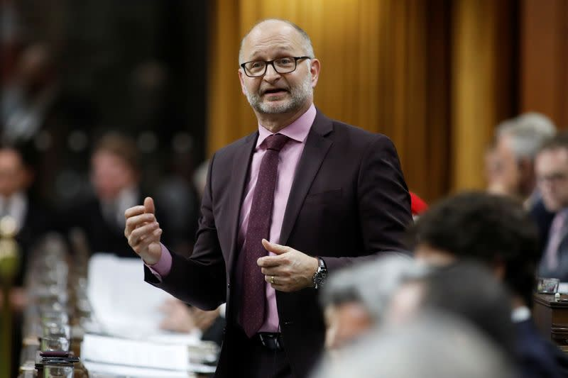Canada's Minister of Justice and Attorney General of Canada David Lametti speaks during Question Period in the House of Commons on Parliament Hill in Ottawa