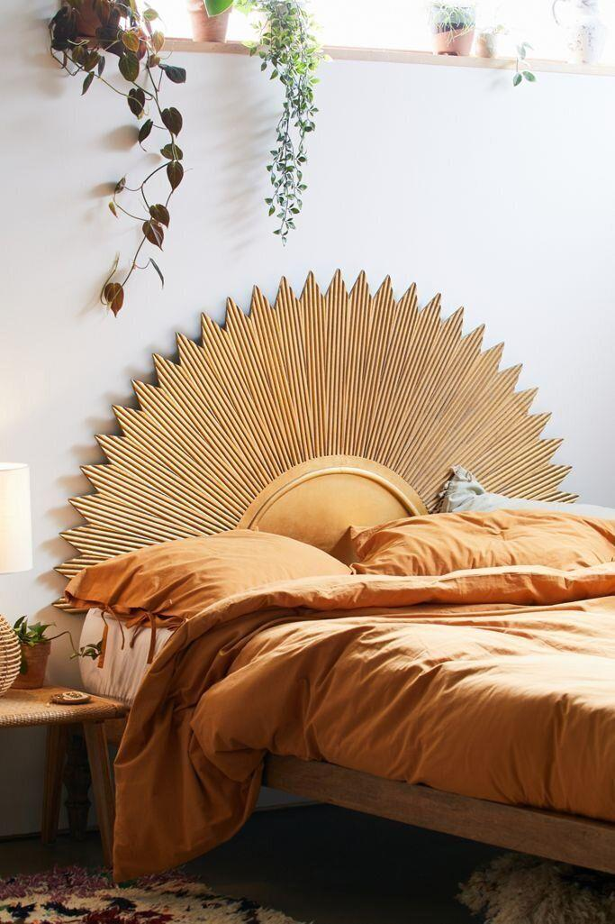 """<a href=""""https://fave.co/2JvyLui"""" target=""""_blank"""" rel=""""noopener noreferrer"""">Urban Outfitters</a> isn't just for <a href=""""https://www.huffpost.com/entry/bohemian-furniture-and-home-decor_n_59e7a9e0e4b00905bdae6e54"""" target=""""_blank"""" rel=""""noopener noreferrer"""">rattan and wicker</a>. Lately, the brand has been offering more different styles of decor, such as this <a href=""""https://fave.co/3kCN00Q"""" target=""""_blank"""" rel=""""noopener noreferrer"""">minimalist storage shelf</a> and <a href=""""https://fave.co/2ExuZSw"""" target=""""_blank"""" rel=""""noopener noreferrer"""">sustainable kitchen essentials</a>. But we're loving all the art deco pieces. For your art deco-inspired bedroom, you could go with this <a href=""""https://fave.co/32U568M"""" target=""""_blank"""" rel=""""noopener noreferrer"""">sun headboard</a> or <a href=""""https://fave.co/3crHCLl"""" target=""""_blank"""" rel=""""noopener noreferrer"""">metal starburst headboard</a>. Sunbursts are all over the site, including on this <a href=""""https://fave.co/33WAv9E"""" target=""""_blank"""" rel=""""noopener noreferrer"""">gilded shelf</a> and<a href=""""https://fave.co/3kM0Y0L"""" target=""""_blank"""" rel=""""noopener noreferrer"""">makeup organizer</a>.<br /><br /><a href=""""https://fave.co/2JvyLui"""" target=""""_blank"""" rel=""""noopener noreferrer"""">Check out Urban Outfitters</a>."""