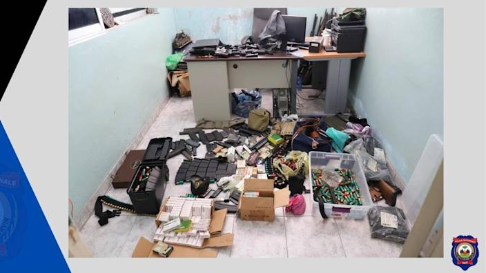 Haiti National Police show off more evidence seized in their investigation into the assassination of President Jovanel Moïse.