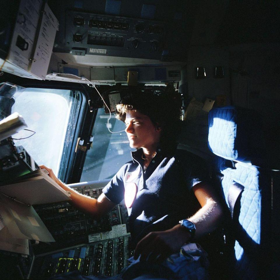 <p>In June of 1983, Sally Ride became the first American woman in space as part of the Space Shuttle Challenger crew. She inspired numerous fans and laid the groundwork for many other women in the industry.</p>