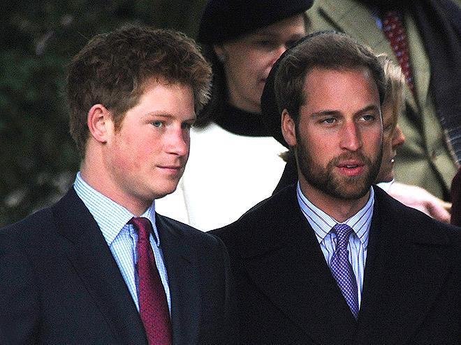 <p>The brothers were both trying some new hair looks that year. </p>