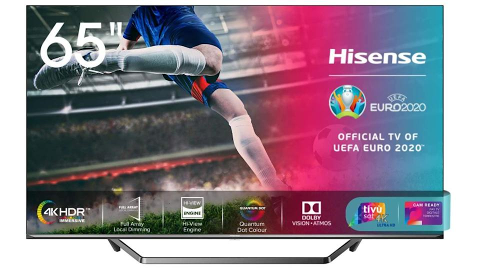 "Hisense 65U71QF Smart TV ULED Ultra HD 4K 65"", Quantum Dot, Dolby Vision HDR, HDR10+, Dolby Atmos, Full Array Local Dimming, Alexa integrata, Tuner..."