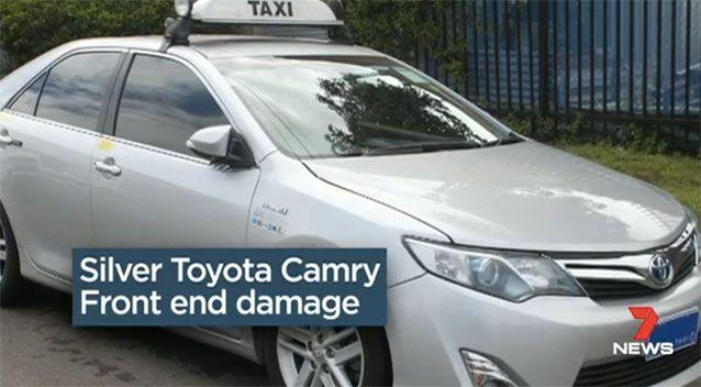 Police are looking for a taxi similar to this one, with front end damage. Picture: 7 News