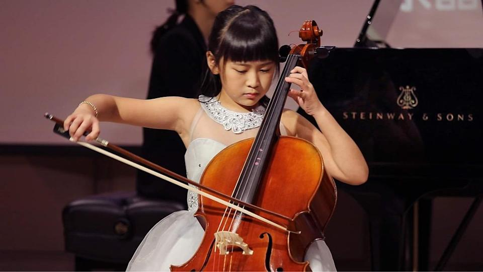 <p>A young performer showcases her skills on the stage. (Photo courtesy of Shan Chuan Musica)</p>