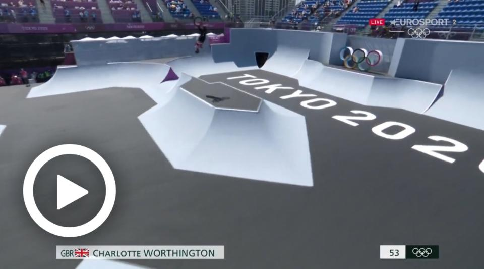 TOKYO 2020 - 'THE FIRST TIME EVER!' – CHARLOTTE WORTHINGTON CLAIMS GOLD WITH HISTORY-MAKING BACKFLIP IN BMX FREESTYLE