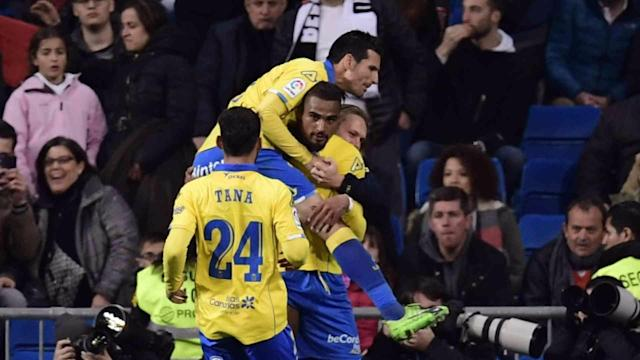 The Ghanaian striker scored his tenth goal of the season as Las Palmas drew against Alaves in La Liga on Sunday evening