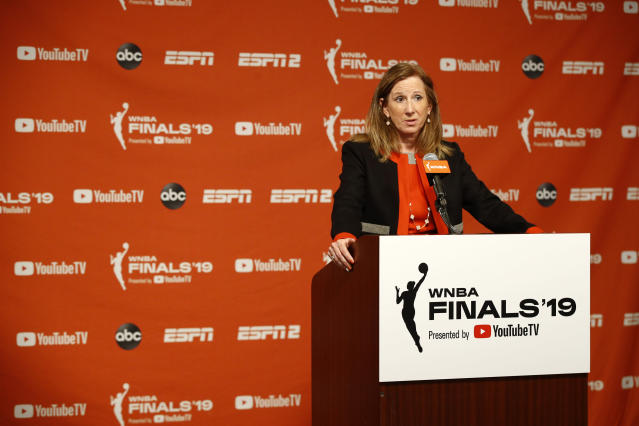 The WNBA is reportedly in talks to hold a 22-game regular season in Florida starting on July 24. (AP/Patrick Semansky)