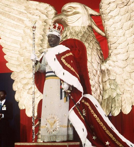 Call me emperor: Jean-Bedel Bokassa crowns himself in a Napoleonic ceremony in December 1977