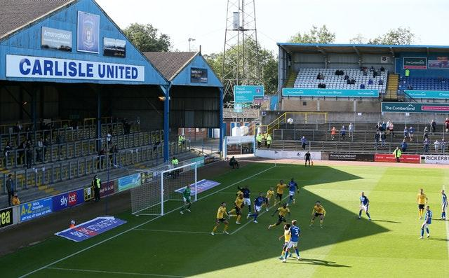 Carlisle beat Southend 2-0 in their League Two pilot match