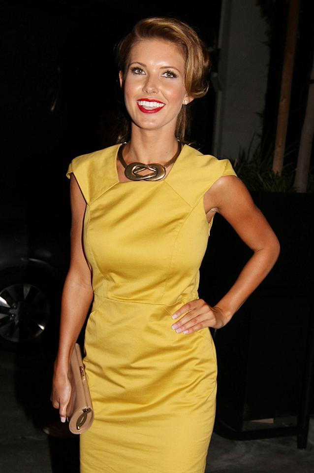 "Now that ""The Hills"" is over, Audrina Patridge has time to appear on another reality show -- ""Dancing With the Stars""! The 25-year-old got all dolled up for a night out at STK in West Hollywood, California, where she celebrated her new gig with other members of the new ""DWTS"" cast. Sharky/<a href=""http://www.splashnewsonline.com/"" target=""new"">Splash News</a> - August 30, 2010"