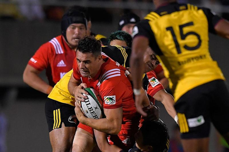 Eastern promise: legendary former All Black Dan Carter in action for Kobelco Steelers against Suntory Sungoliath in a fast-improving Top League match in Tokyo: Getty Images