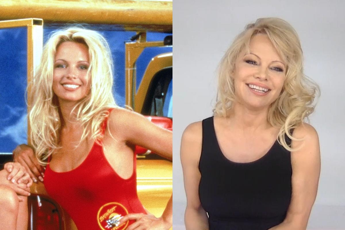 Pamela Anderson saltó a la fama gracias a 'Los vigilantes de la playa' (1992-1997), ficción que la convirtió en un mito erótico de los 90. Así lucía la actriz en aquella época y así la vimos el pasado mes de mayo en 'Watch What Happens Live with Andy Cohen'. (Foto: Fotos International / Bravo / NBCU Photo Bank / Getty Images)