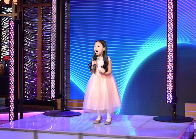 Seven-year-old Malea Emma Tjandrawidjaja has performed the national anthem on TV and before many sports games, but her dream is to sing before the Super Bowl. (Photo by Paula Lobo/ABC via Getty Images)