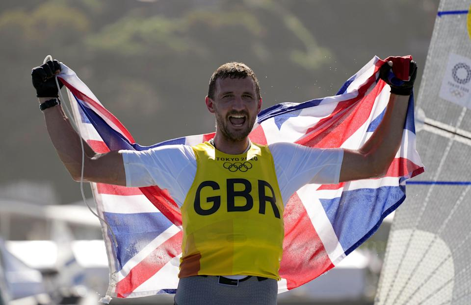 Giles Scott won the gold medal in the men's Finn class at the Tokyo Olympics (PA) (PA Wire)