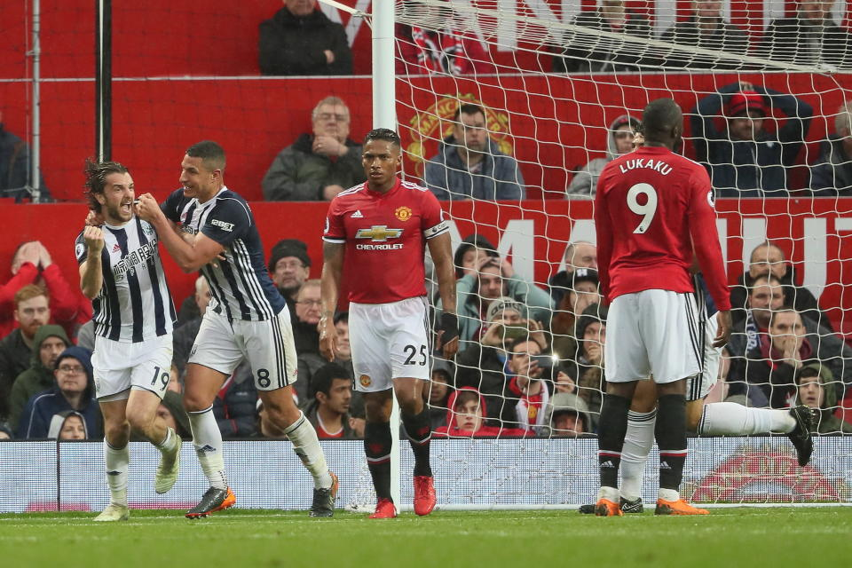 West Brom's 1-0 victory over Manchester United handed the Premier League title to Manchester City. (Getty)