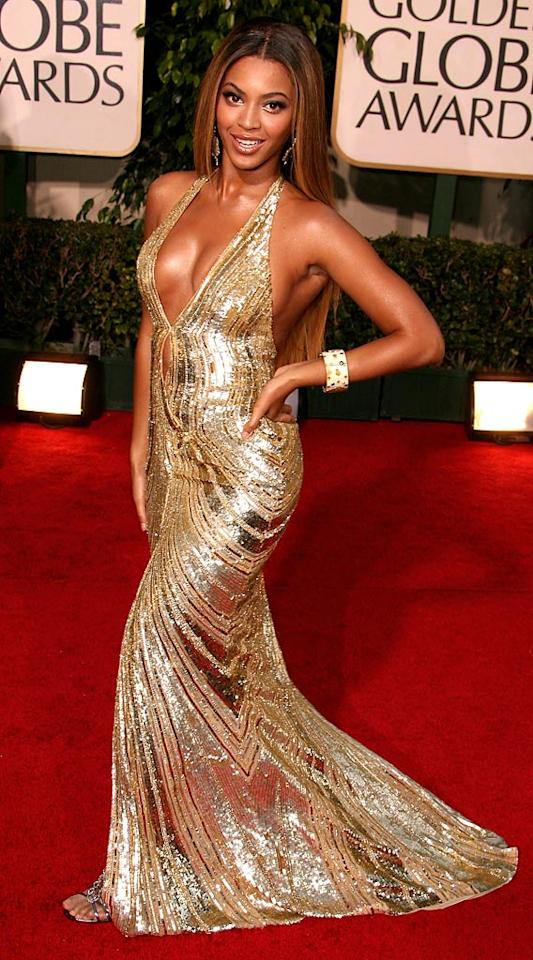 """<a href=""""/beyonce-knowles/contributor/49305"""">Beyonce Knowles</a> at <a href=""""/the-64th-annual-golden-globe-awards/show/40075"""">the 64th annual Golden Globe Awards</a>."""