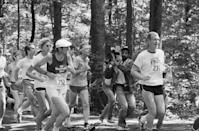 <p>Jimmy Carter tackles a 10k in the Catoctin Mountain Park near Camp David in 1979. </p>
