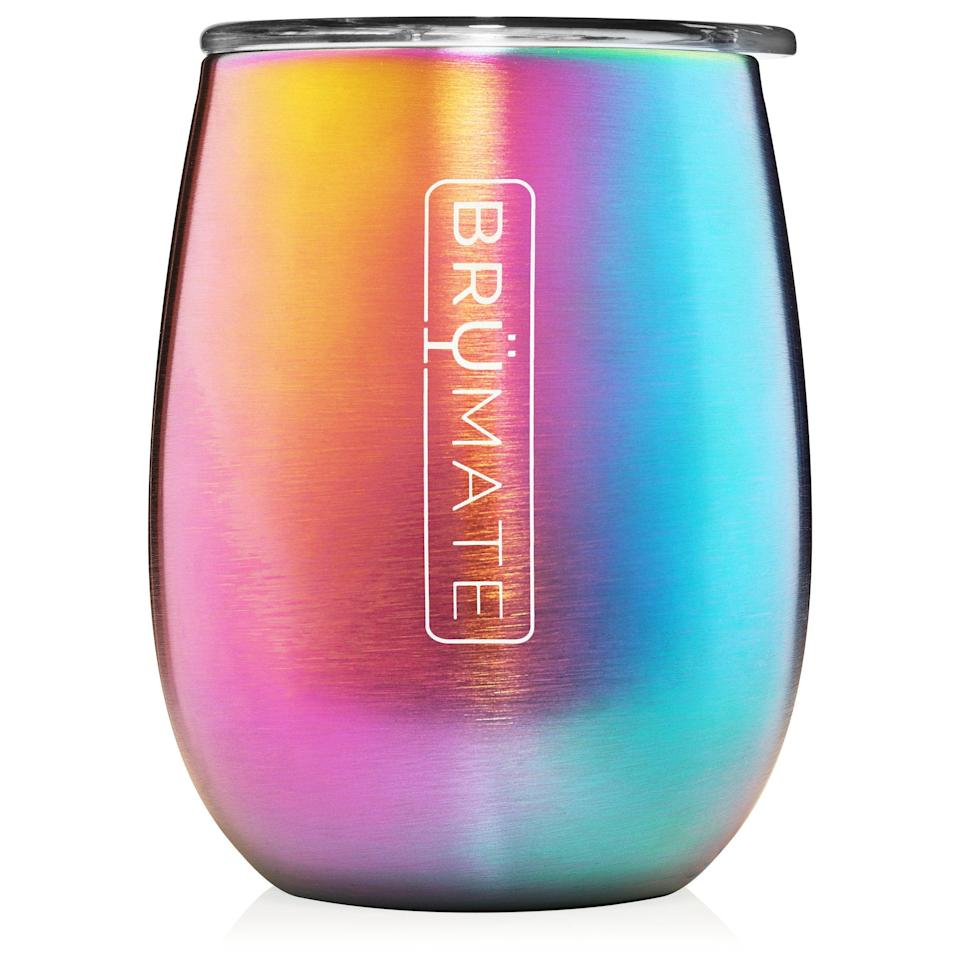 "<h2>BrüMate Wine Tumbler</h2> <br>Same theme, different angle: Give a nurse you love something cute to <a href=""https://www.refinery29.com/en-us/alcohol-bar-drinking-gifts"" rel=""nofollow noopener"" target=""_blank"" data-ylk=""slk:hold their wine in"" class=""link rapid-noclick-resp"">hold their wine in</a> at the <em>end</em> of a long shift. Balance!<br><br><strong>BrüMate</strong> 14oz Wine Tumbler, $, available at <a href=""https://go.skimresources.com/?id=30283X879131&url=https%3A%2F%2Fwww.brumate.com%2Fcollections%2Funcorkd-xl%2Fproducts%2Funcorkd-xl-14oz-wine-tumbler-titanium"" rel=""nofollow noopener"" target=""_blank"" data-ylk=""slk:BrüMate"" class=""link rapid-noclick-resp"">BrüMate</a><br>"