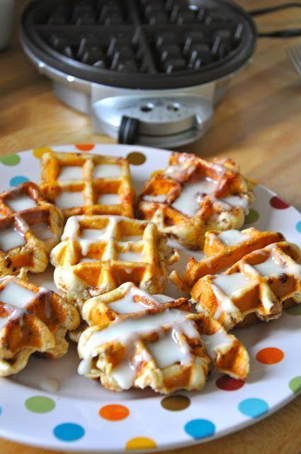 """<p>Add a little extra crisp to your cinnamon rolls by making them in your waffle iron.</p><p>Get the recipe from <a rel=""""nofollow noopener"""" href=""""http://www.littlebitfunky.com/2012/03/cinnamon-rolls-in-waffle-iron-who-knew.html"""" target=""""_blank"""" data-ylk=""""slk:Little Bit Funky"""" class=""""link rapid-noclick-resp"""">Little Bit Funky</a>.</p>"""