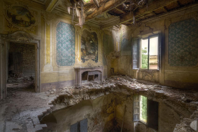 <p>Manager at an ICT service provider, Roman has explored the Mediterranean country for spectacular architecture that has been left to rot. (Photo: Roman Robroek/Caters News) </p>