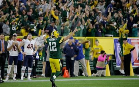 <span>Will Aaron Rodgers be fit to take on the rival Vikings on Sunday after his heroics against the Bears?</span> <span>Credit: (AP Photo/Mike Roemer) </span>
