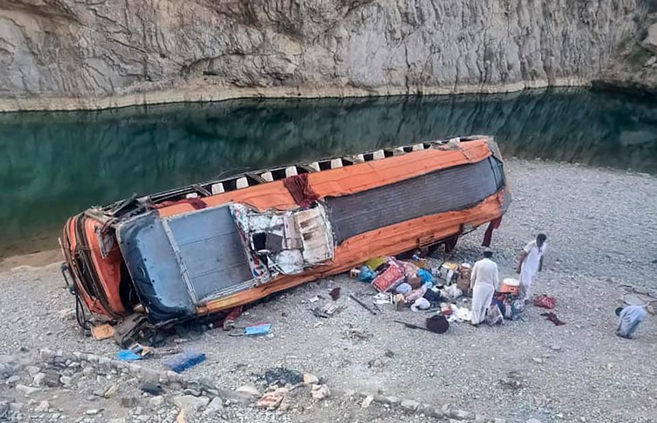 The accident happened just before dawn on Friday in Pakistan (AP)