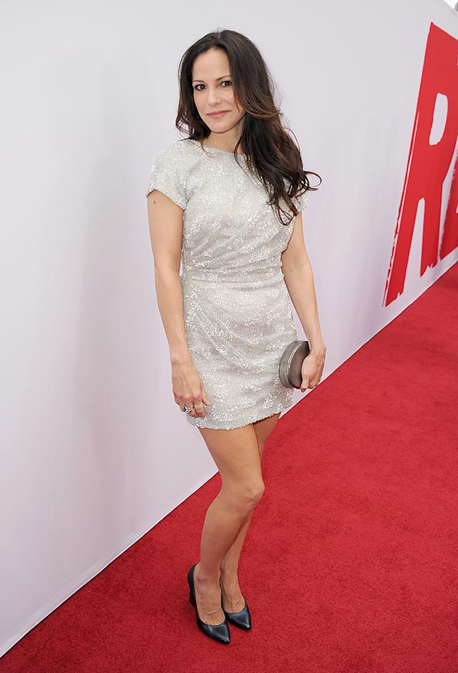 "LOS ANGELES, CA - JULY 11:  Actress Mary-Louise Parker attends the premiere of Summit Entertainment's ""RED 2"" at Westwood Village on July 11, 2013 in Los Angeles, California.  (Photo by Kevin Winter/Getty Images)"
