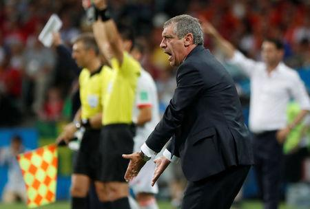 Soccer Football - World Cup - Group B - Portugal vs Spain - Fisht Stadium, Sochi, Russia - June 15, 2018 Portugal coach Fernando Santos reacts REUTERS/Murad Sezer