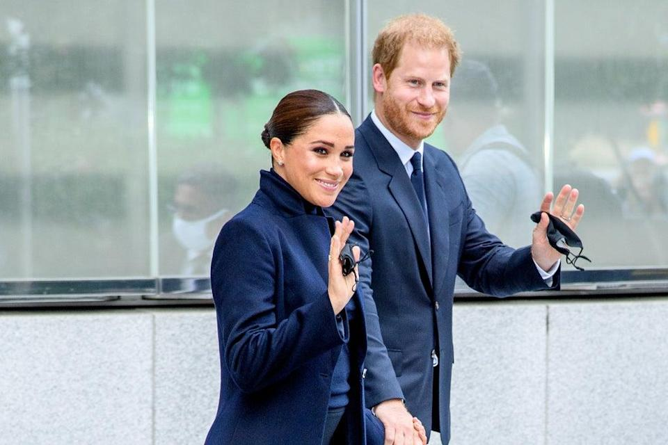 Meghan Markle and Prince Harry visit One World Observatory on September 23 in New York City (Getty Images)
