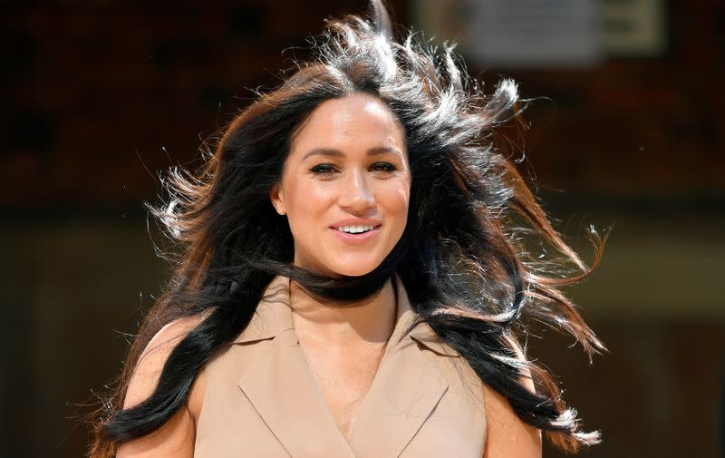 Britain's Meghan Markle, Duchess of Sussex, visits the University of Johannesburg