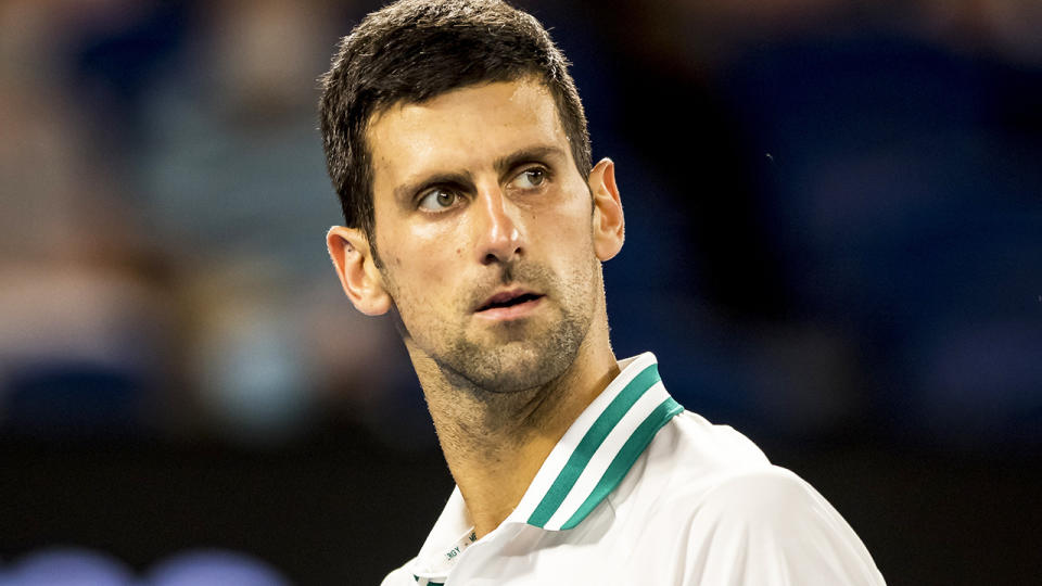 Novak Djokovic is set to face Daniil Medvedev in the Australian Open men's singles final. (Photo by Jason Heidrich/Icon Sportswire via Getty Images)