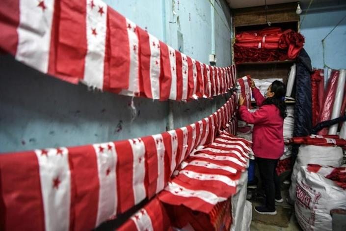 Flags are selling well in a Nepal rocked by political unrest