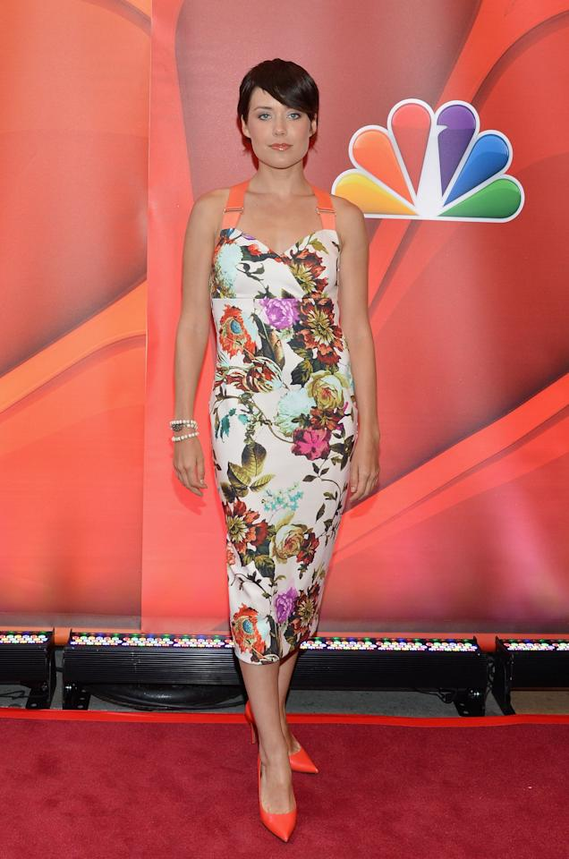 NEW YORK, NY - MAY 13:  Actress Megan Boone attends 2013 NBC Upfront Presentation Red Carpet Event at Radio City Music Hall on May 13, 2013 in New York City.  (Photo by Slaven Vlasic/Getty Images)