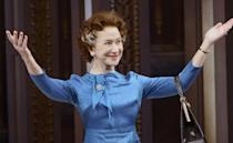 Helen Mirren in The Audience (2013) Another reason to love Dame Helen. When a procession of street drummers threatened to drown out a performance of the hit West End play, there was only one thing for it. She strutted out of the theatre in full royal regalia and gave them an expletive-laden dressing down. That's got to be worth the price of admission alone, right?