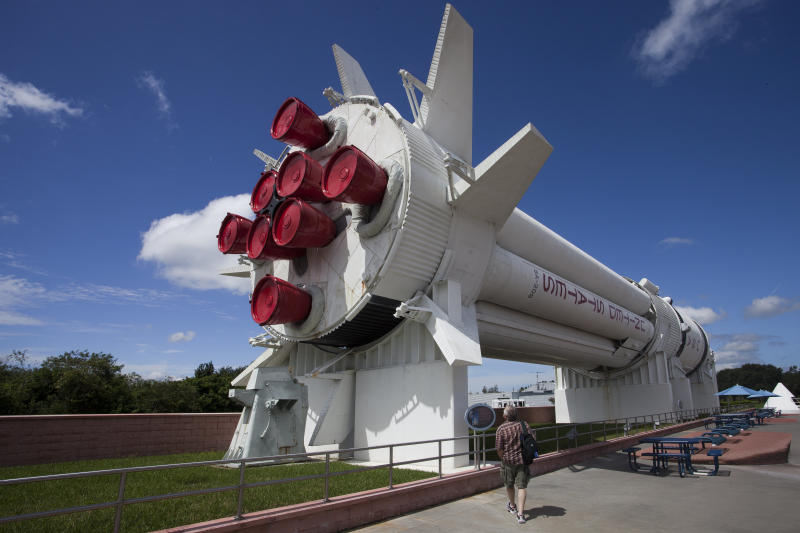 A view of the rocket garden at Kennedy Space Center. (ullstein bild via Getty Images)